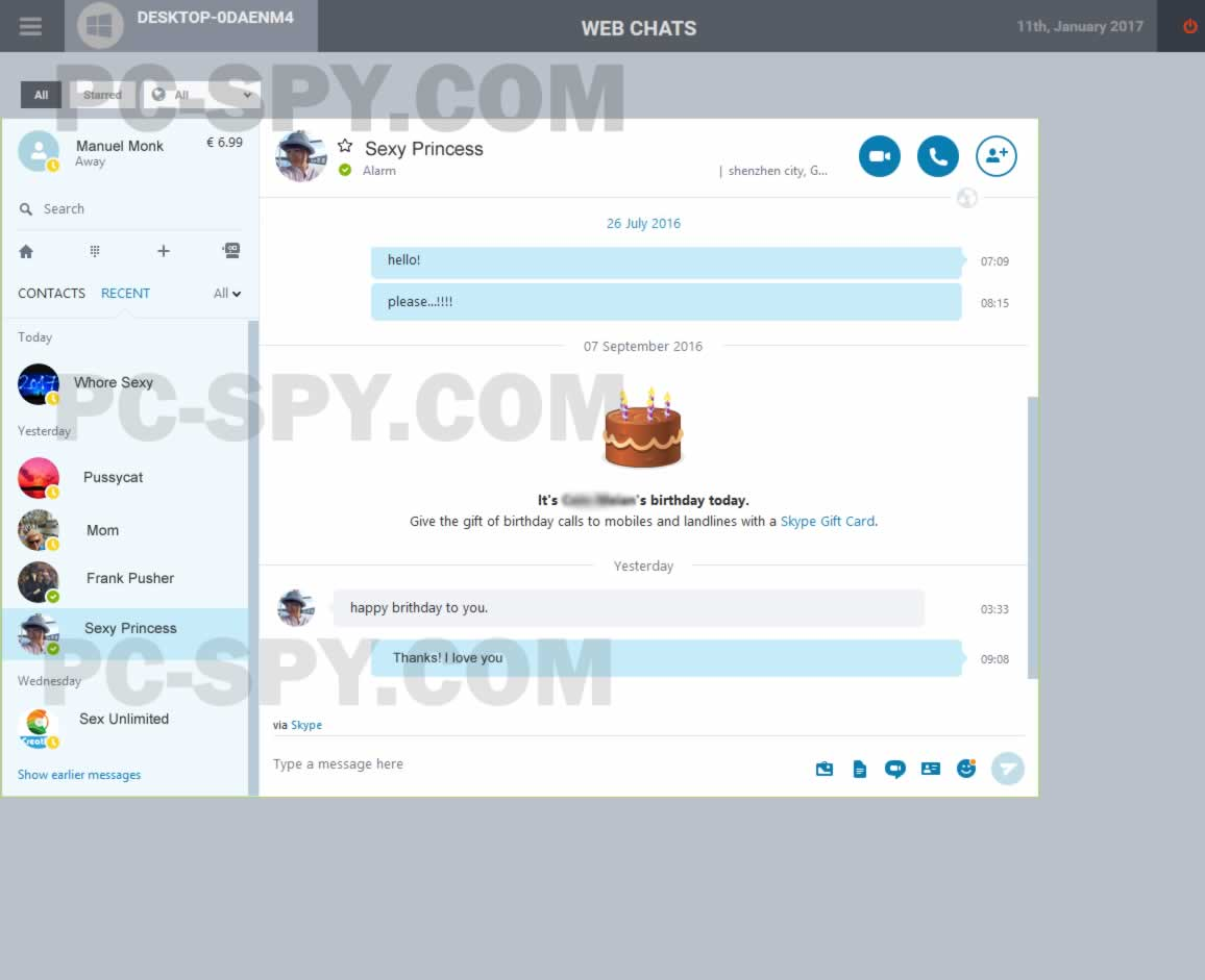 software spia skype